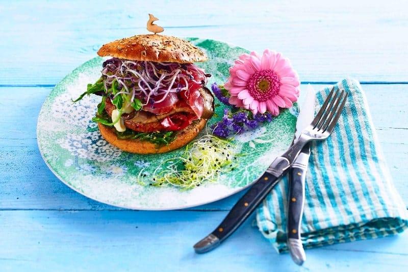 Mediterran 'Veggie Burger'