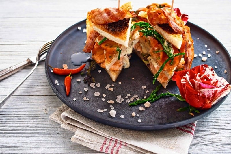 Seafood Club Sandwich