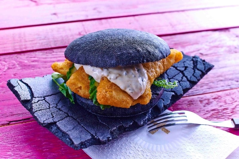 Black Schollen Goujon Burger