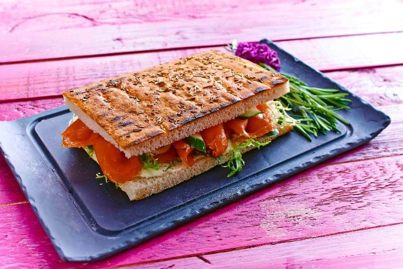 Grilled Focaccia Salmon