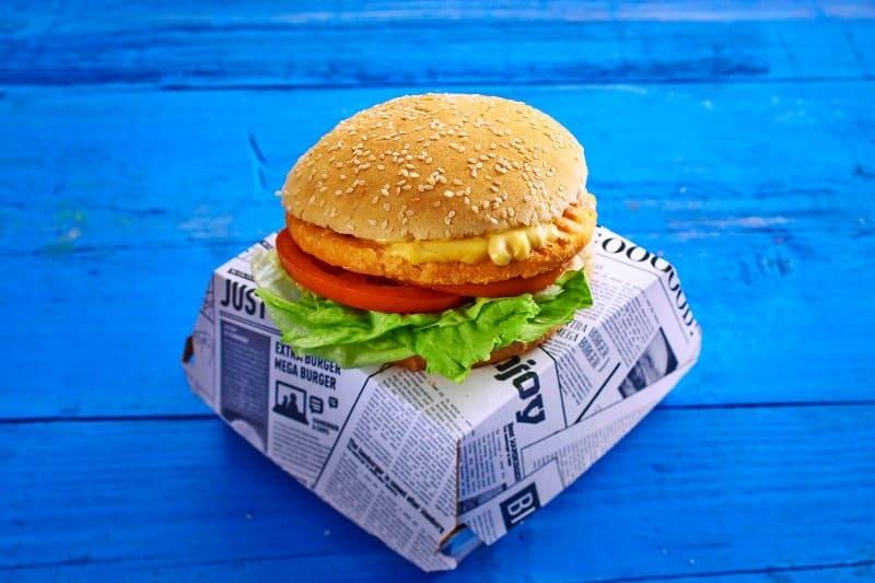 Lachs-Patty-Burger Basic